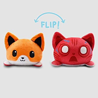 TeeTurtle | Reversible | Cute Mini Plushies | Scaredy Fox | Squish Often - Cuddle Daily | Show Your Mood with Emotion