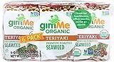 Gimme, Seaweed Snack Pack Teriyaki Cello Organic 6 Count, 0.17 Ounce