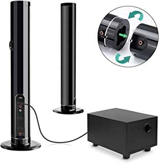 Fityou ホームシアターシステム サウンドバー サブウーファー付き TV スピーカー Bluetooth5.0 スピーカー リモコン付 高音質 大音量 3種類の置き方 一体式/分離式/壁掛け2.0ch Bluetooth スピーカー TV SoundBar Bluetooth speaker 【 Bluetooth/OPT 光デジタル/AUX (有線)3.5MM/USB 接続可】一年保証 日本語取扱説明書