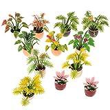 MILISTEN 10 Piezas 1:12 Casa de Muñecas en Miniatura Adorno de Planta de Flores para Casa de Muñecas en Miniatura Decoración de Jardín de Hadas Niños Juegan Juguete Regalo Al Azar