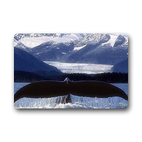 Homer Motif Queue de Baleine Lavable Paillasson/Portail Pad 59,9 x 39,9 cm Intérieur/extérieur de Bain Décor de Cuisine Zone Tapis 59,9 x 39,9 cm Intérieur/extérieur