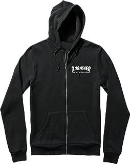Thrasher Magazine Skate Mag Zipブラックフード付きスエットシャツ?–?中