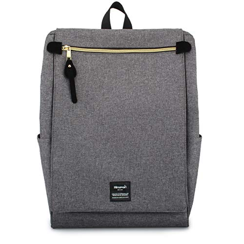 Himawari Travel School Backpack with Laptop Compartment for Women Men 15.6 inch- Gray