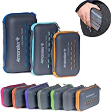 4Monster Camping Towels Super Absorbent, Fast Drying Microfiber Travel Towel, Ultra Soft Compact Gym Towel for Beach Hiking Yoga Travel Sports Backpack (Navy Blue, XX-Large (35 x 71 inches))