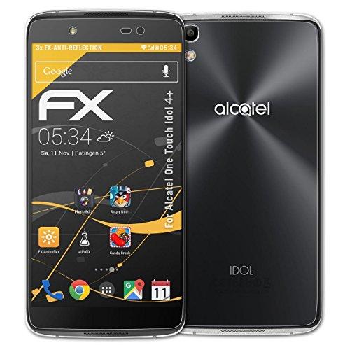 atFolix Panzerfolie kompatibel mit Alcatel One Touch Idol 4+ Schutzfolie, entspiegelnde & stoßdämpfende FX Folie (3er Set)