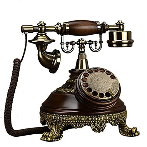 VERDELZ Teléfono Fijo Retro, teléfono de marcación giratoria, teléfono de Escritorio clásico, decoración del hogar, teléfono de Hotel para la decoración del Hotel de la Oficina en casa