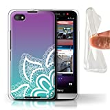 Stuff4® Gel TPU Hülle/Case für BlackBerry Z30 / Weiß Henna-Tattoo Muster/Ombre Muster Kollektion