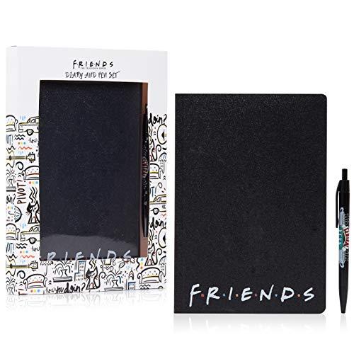 Friends Set Papeleria, Incluye Cuaderno A5 y Boligrafo, Diarios Para Escribir, Material Oficina y Papeleria, Merchandising Oficial Regalos Para Niños Adolescentes y Adultos