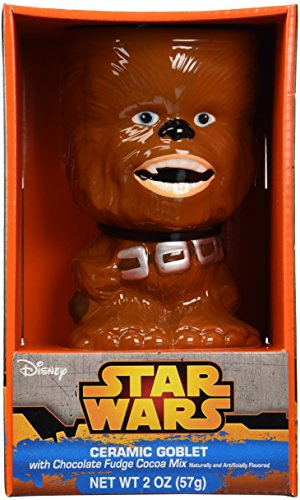Star Wars Ceramic Goblet with Chocolate Fudge Cocoa Mix - Chewbacca