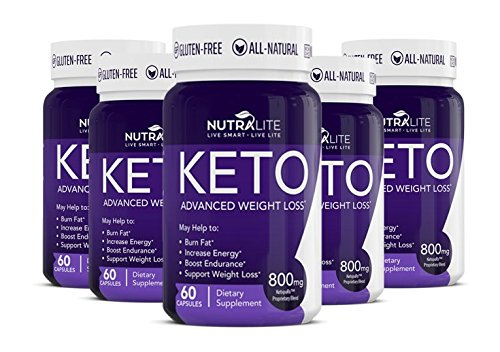 Keto by NutraLite - Advanced Weight Loss Supplements. Burn Fat for Carbs. Exogenous Ketones (BHB) Buy 3 Get 2 Free 1