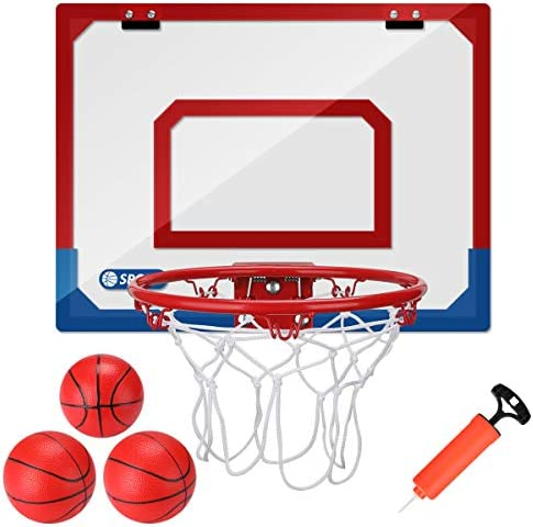 Kavalan Mini Basketball Hoop Set for Door Wall 16 X 12 inch Basketball Games for Home and Office product image