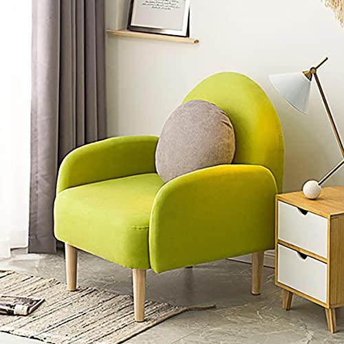 GGHHJ Sala De Estar Tapizada Cómoda del Sillón del Sillón del Solo Sofá De La Silla De La Tela del Acento Moderno (Color : B)