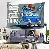 FOURFOOL Wandteppich,Roboter Party Cool Dance Cartoon Charakter Musik Comic,Wandteppiche Wandverkleidung Wandteppich Tagesdecke Picknickdecke Tapisserie Decke Wanddecke werfen Art Home Decor