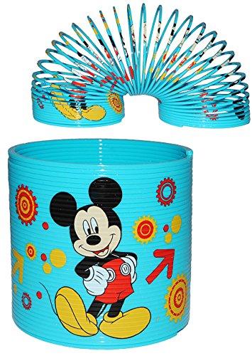 alles-meine.de GmbH Spirale / Treppenläufer -  Disney Mickey Mouse & Pluto  - Springspirale für Treppen / Motorik Spiel - Zauberspirale Sprungfedern - Springspirale - blau / fü..