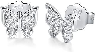 cubic zirconia butterfly earrings