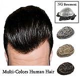 Beyond Your Thoughts Echthaar Toupet für Männer Haarteile Herrenperücke Natürlich