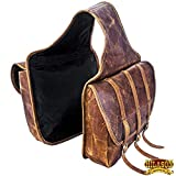 HILASON Western Horse Leather Saddle Bag Traditional Cowboy Trail Ride