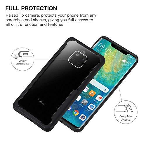 ORETECH Huawei Mate 20 Pro Hülle, Huawei Mate 20 Pro HandyhülleUltra Dünn TransparentHart-PC & TPU SilikonHandyhülleScratch-Stoßfest Stoßstange Schutzhülle Hüllen Huawei Mate 20 Pro 5.8''-Schwarz - 6