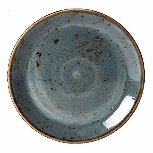 Steelite Craft Coupé-Teller, Geschirr, Steinzeug, 20,25 cm, 6 Stück, blau