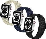 DJDLOK Bandas de relojes elásticas trenzadas suaves de nylon SOLO LOOP compatible con for el reloj de Apple Sport Ajustable Sport Transpirable Strap de la muñeca for iWatch Series 7/6/5/4/3/2 / 1 / SE