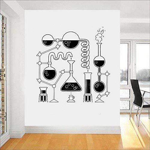 Ciencia Beaker Dormitorio Arte de la pared Diversión Educación Científico Química Papel tapiz de vinilo
