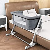 Bedside Baby Bassinet - UpwardBaby Co Sleeper for Newborn and Infants Great Portable Travel Crib and Bed - 2 Bassinet Sheets Included