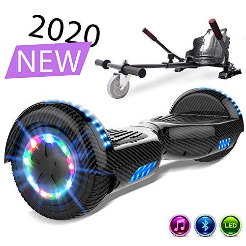 SOUTHERN-WOLF Self-Balancing Scooter, Hoverboard 6,5zoll Hover Scooter Board Bluetooth Scooter mit bunten Lichter Bluetooth eingebaute Geschenk für z29 (Carbon Black)