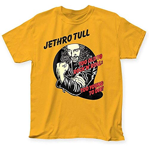 Jethro Tull Too Old to Rock 'N' Roll Too Young to Die Album Cover T-Shirt Top