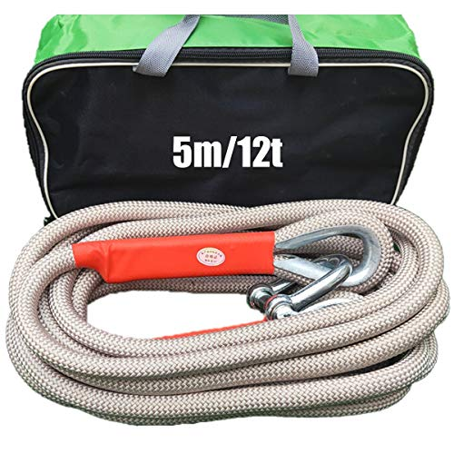 Find Bargain QDTD Towing Ropes,Tow Rope Heavy Duty 4x4,5m/16.4ft Tow Rope,with 2 Tow Rope Hooks,Maxi...