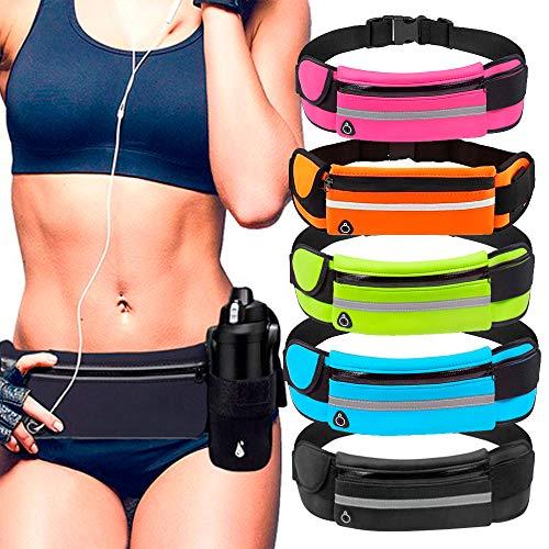 Pochete Esportiva Corrida Porta Celular Garrafa Documento Cinta Fitness Cores (Rosa)