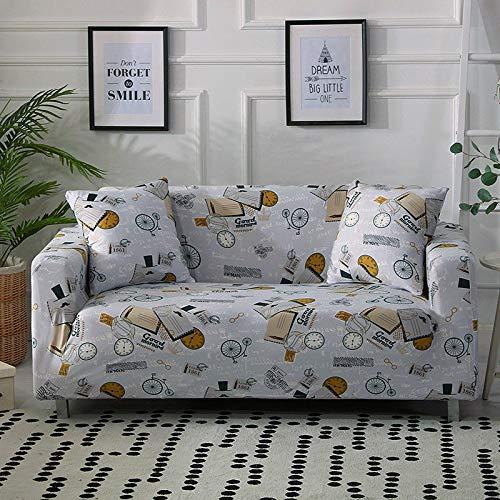 WXQY Funda de sofá Flexible, Funda de sofá de Sala de Estar, sofá para Mascotas, Funda de Silla en Forma de L, Funda de sofá Todo Incluido a Prueba de Polvo A12 de 4 plazas