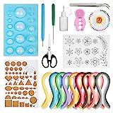 Hyber&Cara 19 Stück Papier Quilling Werkzeug Set mit 45 Farben 900 Papierstreifen Breite 5mm Quilling Schimmel Board Korkplatte