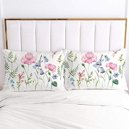 lhmlyl mattress cover digital high-definition printed pillowcase bedding size pattern-simple 019-White-P_45x45cm 2pcs