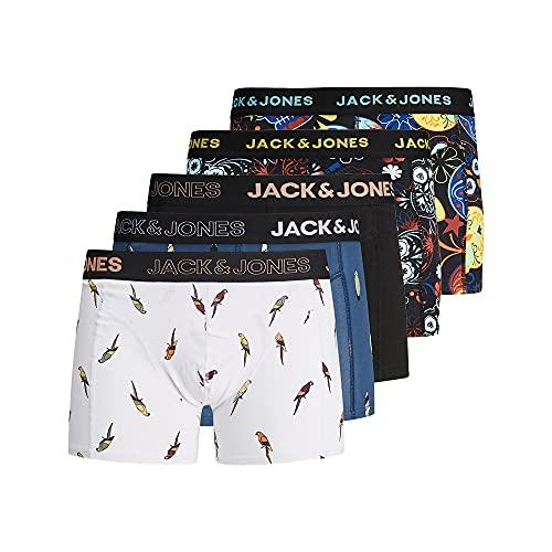 JACK & JONES Herren 5er Pack Boxershorts Unterwäsche, Größe:L, Farbe:5er Pack #MIX7