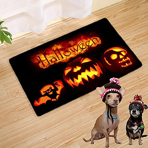 WSSSSSW Felpudo De Halloween Baño Mullidas Alfombras Puerta Mats Antipatinaje Alfombra De Cocina para La Puerta Delantera.(60 * 40cm)