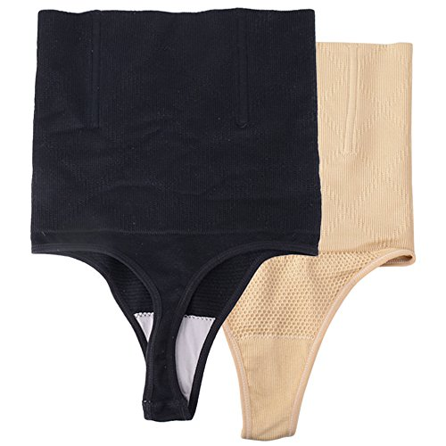 JNCH 2Pcs Faja Tanga Braga Faja Reductora Braguita Moldeadora Adelgazante Cintura Alta Body Moldeador Abdomen Shapewear Lenceria Mujer (M/L)