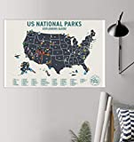 hardoinstephane USA National Park Scratch Off Map - Scratch Off Travel Poster Reveals Images of All 61 US National Parks - Ideal Man Gift - Engagement Gift