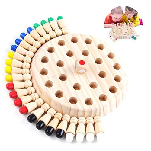 Sunshine smile Juguetes cognitivos de Color para niños,ajedrez de Memoria,ajedrez de Memoria Montessori,ajedrez de Memoria de Madera,ajedrez de Palo de Memoria de Madera,Niños ajedrez de Memoria (2)
