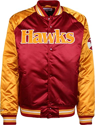 Mitchell & Ness Atlanta Hawks NBA HWC Tough Season Satin Jacket Bomber College Jacke