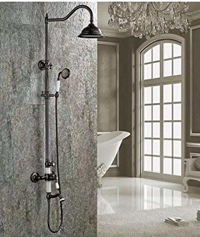 GFF Dusche dusche schwarz duschset europische Badezimmer dusche europische Hand mit wasserbad dusche mischbatterie