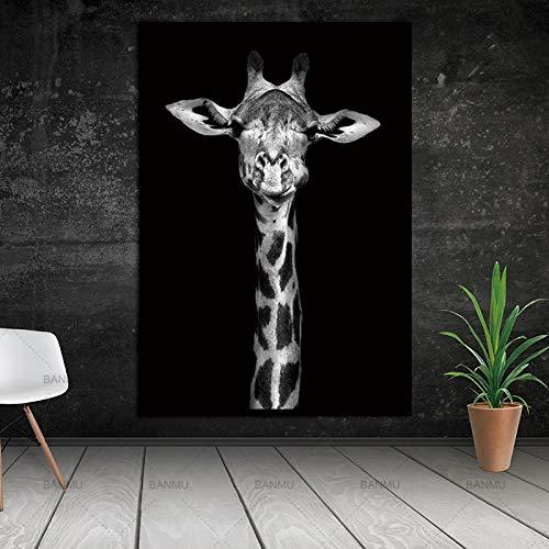 yaoxingfu Kein Rahmen Morden Tier leinwand ng wandkunst Bild für Wohnzimmer Kunst Poster und Druck auf leinwand für hauptdekoration kein Rahmen 30x45cm