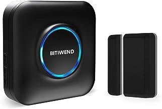 BITIWEND deurraamsensor bel, draadloze magneetdetector, raamdeursensor met magnetische sensor, draadloze deurraamdetector ...