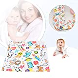 SALUTUYA Baby-Bademantel, mit Tricorne-Kappe, niedlichen Cartoon-Mustern, Baby-Badezubehör(Crayon Doodle)