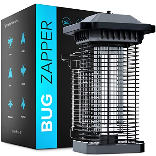 Bug Zapper Outdoor Electric and Indoor Mosquito Zapper for Home, Mosquito Killer Lamp, Mosquito Eradicator Outdoor Gnat Killer for Indoor Fly Zapper Outdoor Electric