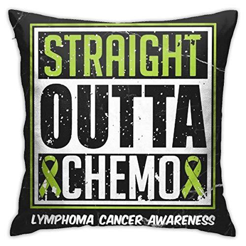 INGXIANGANCHI Straight Outta Chemo Lymphoma Cancer Awaren Funda de cojín decorativa 18 '18'