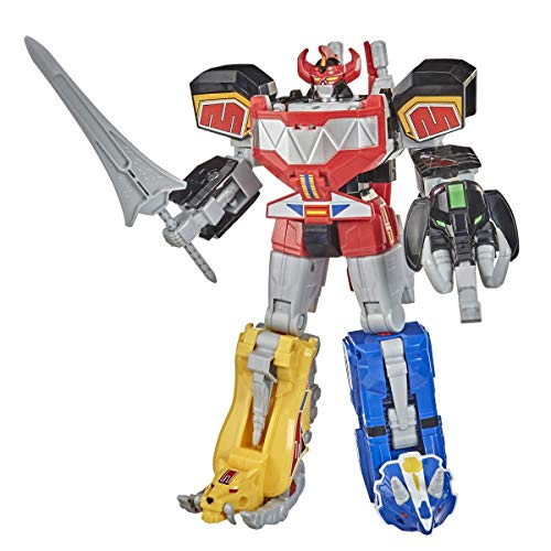 Power Rangers Mighty Morphin Megazord Megapack Includes 5 MMPR Dinozord Action Figure Toys for Boys and Girls Ages 4 and Up Inspired by 90s TV Show (Amazon Exclusive)