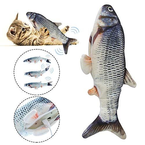 Yunhigh-uk Catnip Toy Fish Moving for Cat, USB Fish Fish Wagging Tail Realistico nteractive Ricaricabile Giocattolo da Masticare per Gatti Gattini