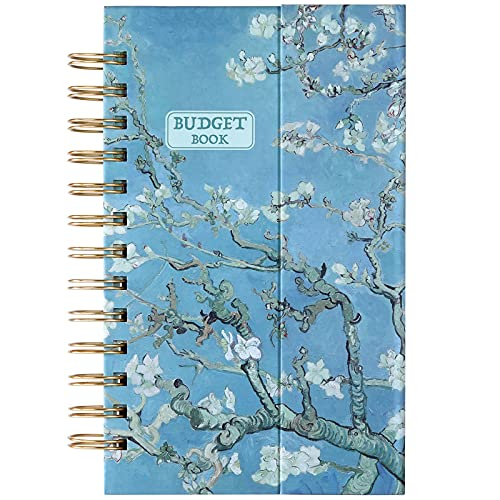 """Budget Planner - Budget Book 5.3"""" x 7.6"""", 12 Months Financial Organizer, Expense Tracker, Monthly Budget Book with Pockets for Each Month, Undated Finance Planner & Accounts Book, Magnetic Hardcover"""