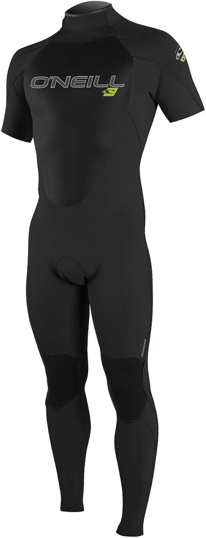 O'Neill Men's Epic 2mm Back Zip Short Sleeve Full Wetsuit, Black, Small