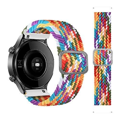 Compatible con Huawei Watch3, correa ajustable trenzada, elástica, respetuosa con la piel, transpirable, reloj de pulsera para hombres y mujeres, soporte para vestido mini de reloj.